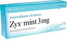 Bild på Zyx mint, sugtablett 3 mg 2 x 10 st