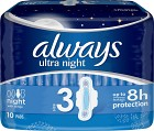 Always Ultra Night 10 st oparfymerad