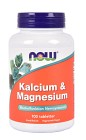 NOW Kalcium & Magnesium 100 tabletter