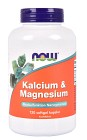 NOW Kalcium & Magnesium 120 kapslar