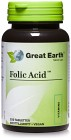 Great Earth Folic Acid 400 mcg 250 tabletter