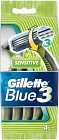 Gillette Blue 3 Sensitive Engångshyvlar 4 st