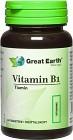 Great Earth Vitamin B1, 60 Tabletter
