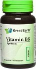 Great Earth Vitamin B6, 60 tabletter