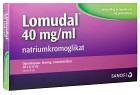Lomudal, ögondroppar, lösning i endosbehållare 40 mg/ml 20 x 1 dos(er)