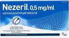 Nezeril, näsdroppar, lösning i endosbehållare 0,5  mg/ml 2 x 10 x 0,1 ml