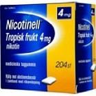 Nicotinell Tropisk frukt, medicinskt tuggummi 4 mg 204 st