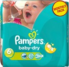 Pampers Baby-Dry Size 6 månadsbox