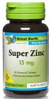 Great Earth Super Zinc 15 mg 100 tabletter