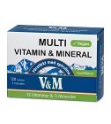 V&M Multi Vitamin & Mineral med spirulina 120 tabletter
