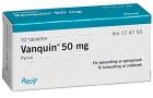 Vanquin, dragerad tablett 50 mg 32 st