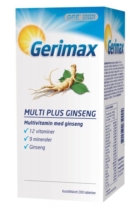 gerimax multi plus ginseng biverkningar